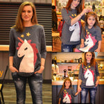 Mother Daughter Matching Unicorn Tops Matching Outfits Loom Rack