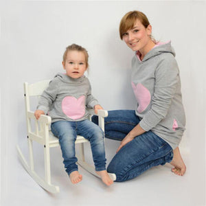 Mother/Daughter Matching Heart Hoodies Matching Outfits Loom Rack