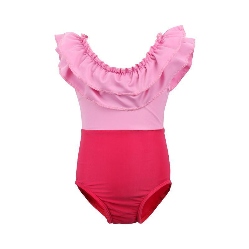Mother/Daughter Matching Pretty in Pink Ruffle Swimsuits Swimsuits 2019 Loom Rack