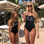 Mother/Daughter Matching Silly Cat Swimsuits Swimsuits 2019 Loom Rack
