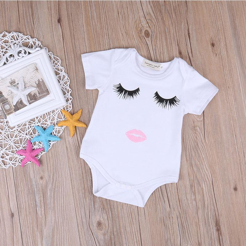 Mother/Daughter Matching T-shirts & Onesies - Eyelash/Lip Prints Matching Outfits Loom Rack Baby-9M