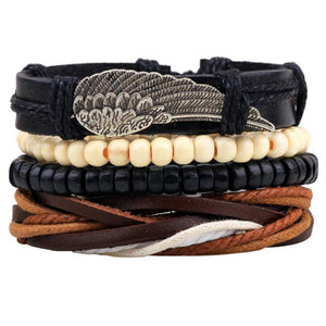 Multilayer Leather Bracelet for Men and Women Bracelets Loom Rack
