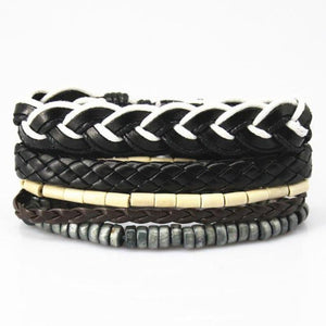 Multilayer Leather Bracelet for Men and Women Bracelets Loom Rack Bracelet Style - 09