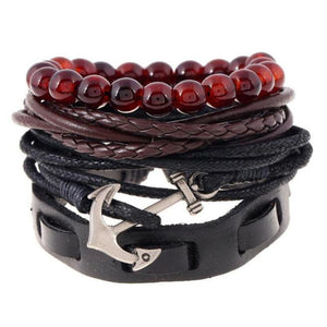Multilayer Leather Bracelet for Men and Women Bracelets Loom Rack Bracelet Style - 10