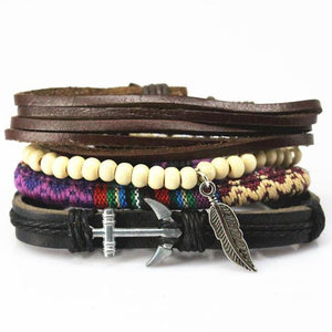 Multilayer Leather Bracelet for Men and Women Bracelets Loom Rack Bracelet Style - 14