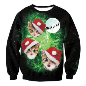 My Ugly Christmas Sweater - Cat Galaxy Christmas Ugly Sweaters Loom Rack Cat Galaxy S