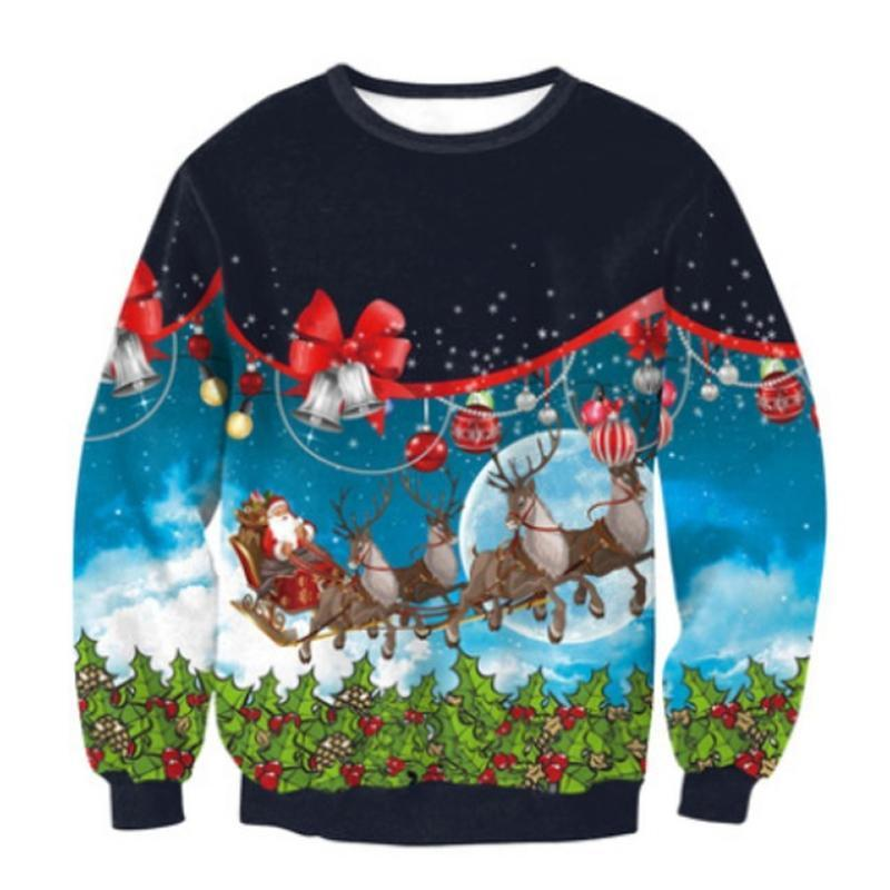 My Ugly Christmas Sweater - Santa's Sleigh Christmas Ugly Sweaters Loom Rack Santa's Sleigh S