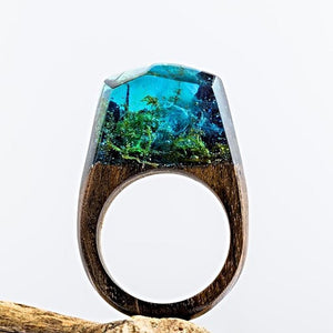 Mystical Wood Landscape Rings Rings Loom Rack