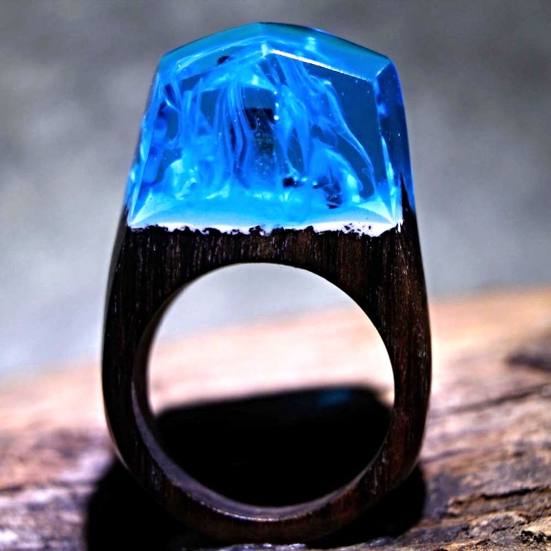 Mystical Wood Landscape Rings Rings Loom Rack R001 8