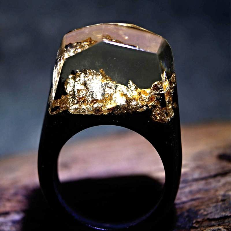 Mystical Wood Landscape Rings Rings Loom Rack R003 8