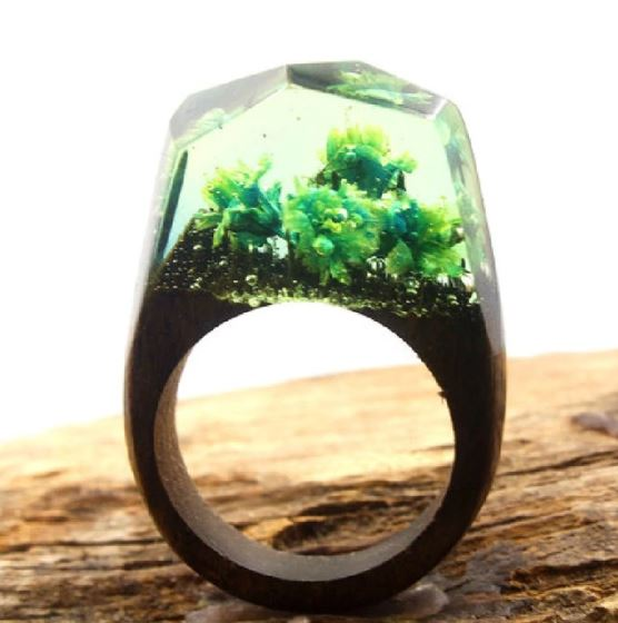 Mystical Wood Landscape Rings Rings Loom Rack R006 5