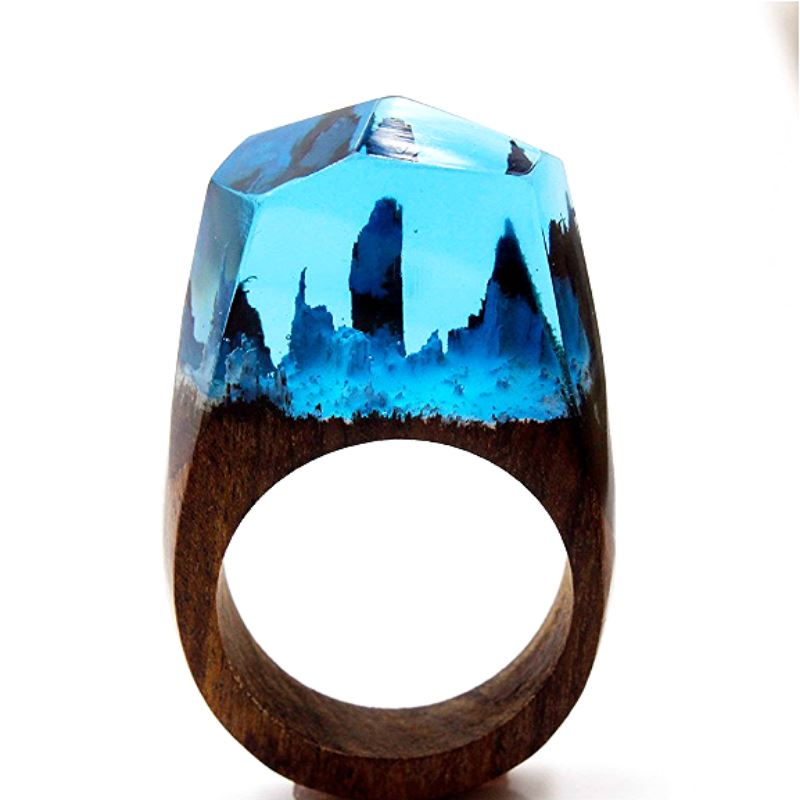 Mystical Wood Landscape Rings Rings Loom Rack R019 8