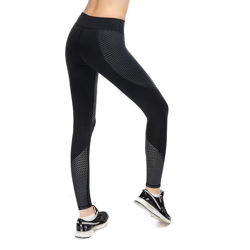 Optical Design Reflective Compression Leggings Leggings Loom Rack