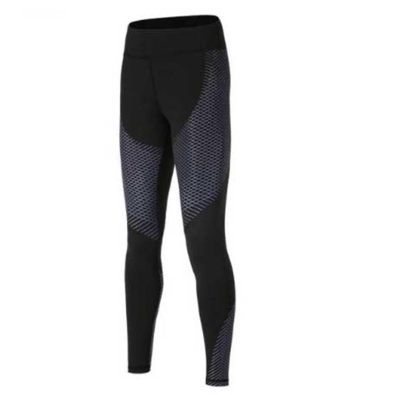 Optical Design Reflective Compression Leggings Leggings Loom Rack Dark Gray S