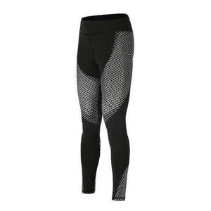 Optical Design Reflective Compression Leggings Leggings Loom Rack White S