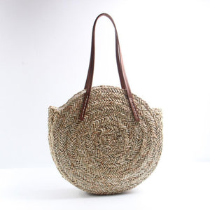 Oversized Bohemian Round Straw Beach Bag Rattan Bags Loom Rack