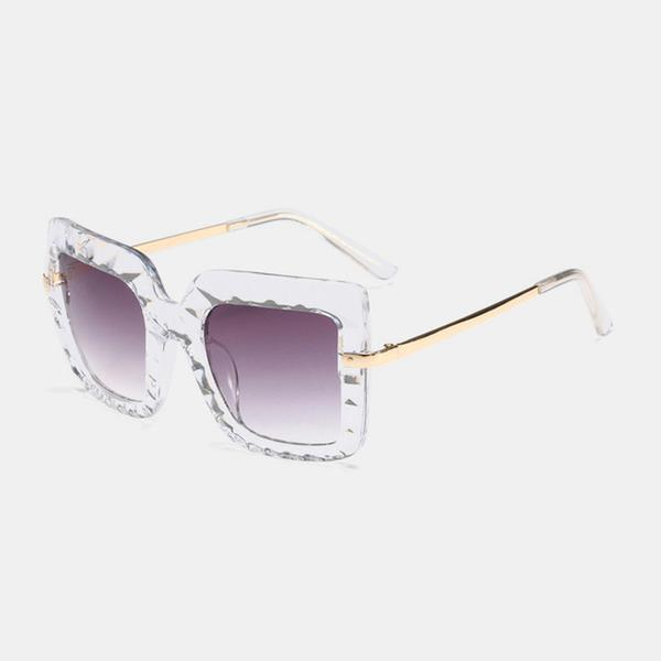 Oversized Glacier Shades Sunglasses C1 clear frame