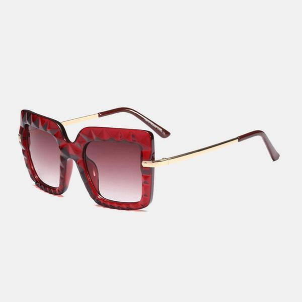 Oversized Glacier Shades Sunglasses Red