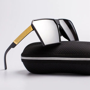 Oversized Reflective Square Sunglasses Sunglasses C1