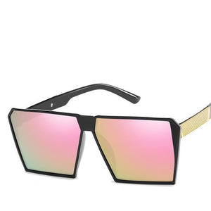 Oversized Reflective Square Sunglasses