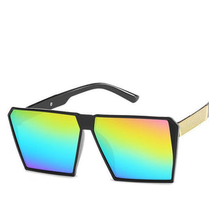 Oversized Reflective Square Sunglasses Sunglasses C8