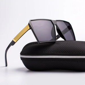 Oversized Reflective Square Sunglasses Sunglasses Loom Rack