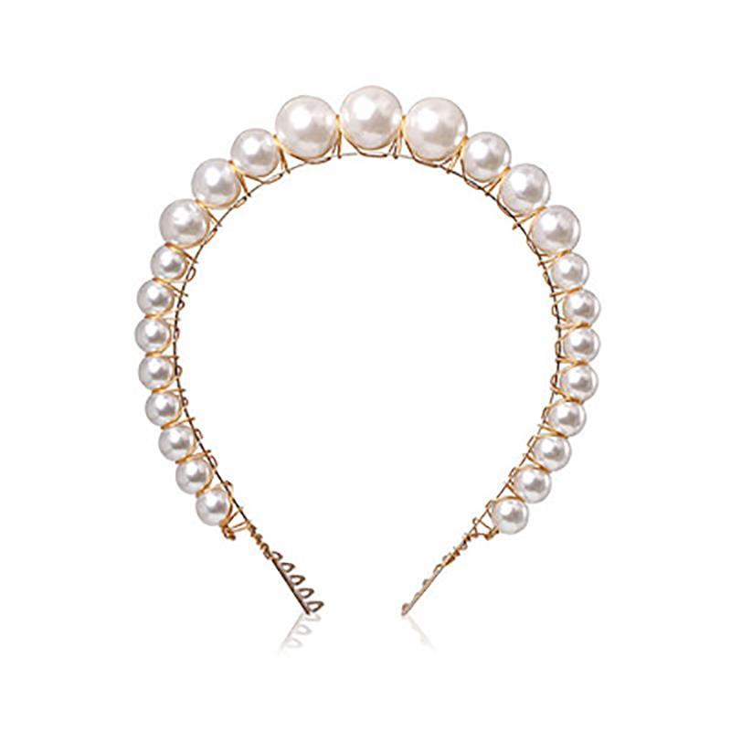 Pearl Beaded Headbands Headbands 90006-WH