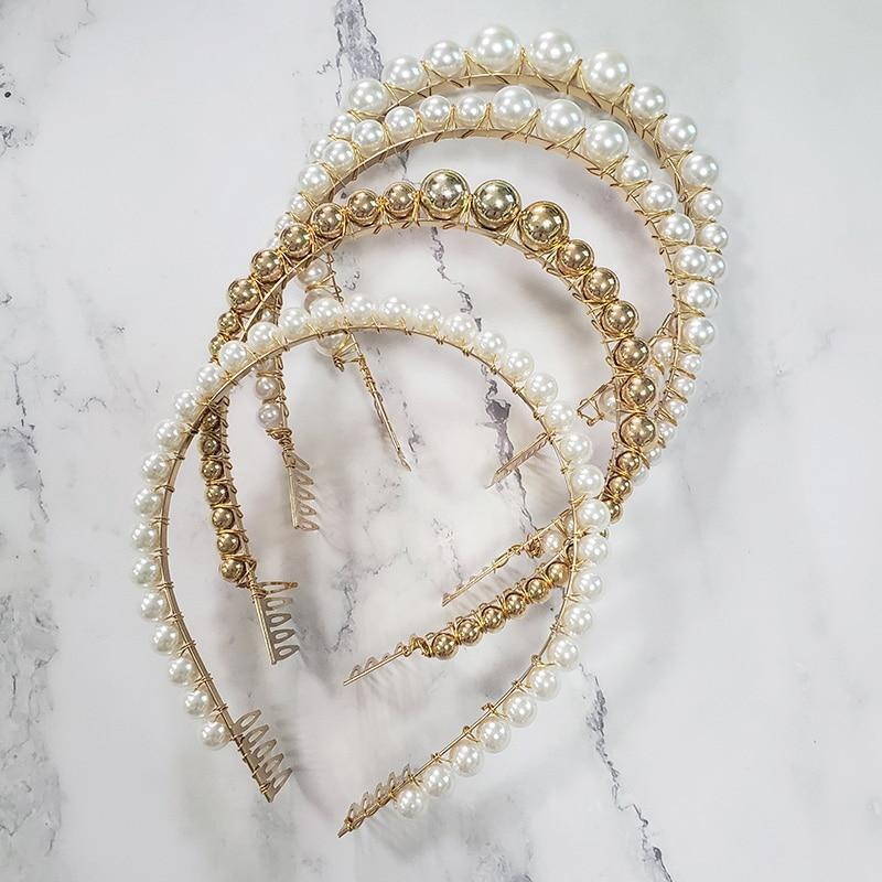 Pearl Beaded Headbands Headbands Loom Rack
