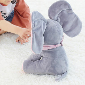 Peek A Boo Elephant Plush Doll Baby Accessories Gray