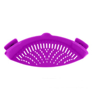 Perfect Fit Silicone Pot Bowl Clip-On Strainer Home Accessories Loom Rack Purple