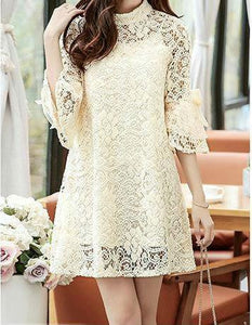 Perfect Little Lady Mother-Daughter Lace Matching Dresses Matching Outfits Loom Rack Beige mother M
