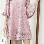 Perfect Little Lady Mother-Daughter Lace Matching Dresses Matching Outfits Loom Rack Purple mother M