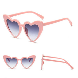 Pointed Cat Eye Heart Sunglasses Sunglasses Loom Rack