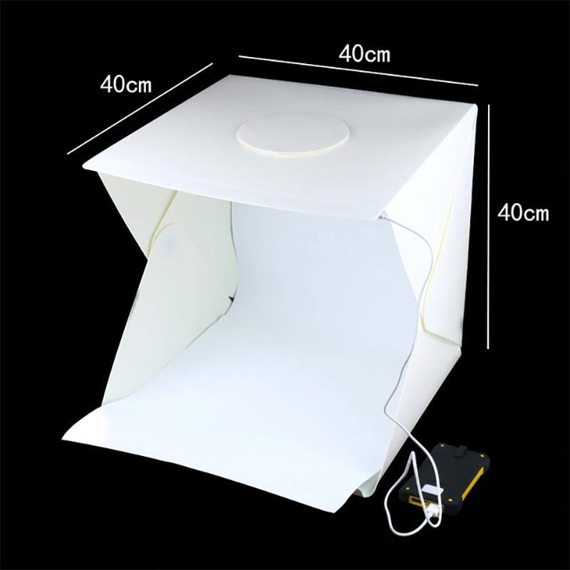 Portable LED Studio Lightbox Lights Large (40 x 40 x 40cm)