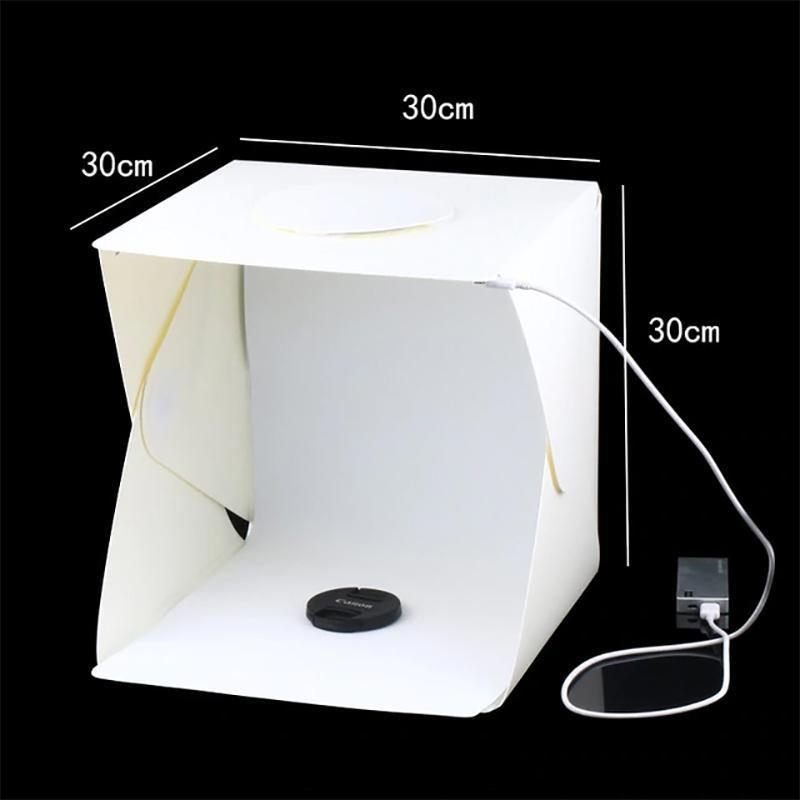 Portable LED Studio Lightbox Lights Loom Rack Medium (30 x 30 x 30cm)