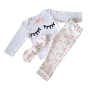Pretty in Wink 3 Piece Baby Girl Set Clothing Sets Loom Rack 6M