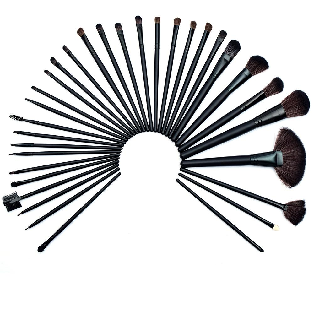 Professional 24 Piece Makeup Brush Set With Case Makeup Accessories LoomRack