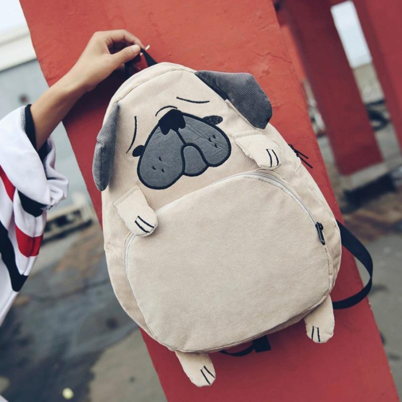 Pug Backpack Backpacks Loom Rack Khaki