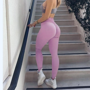 Push Up Scrunch Butt High Waist Fitness Leggings Leggings Loom Rack
