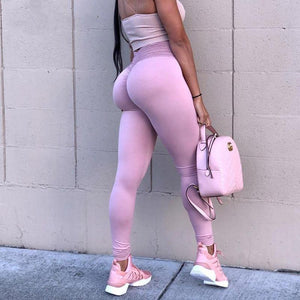 Push Up Scrunch Butt High Waist Fitness Leggings Leggings Loom Rack Lavender S