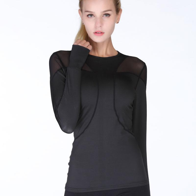 Quick Dry Breathable Mesh Long Sleeve Yoga Top Yoga Shirts Loom Rack