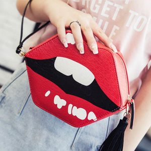 Red Lips Luxury Sling Bag Shoulder Bags Loom Rack