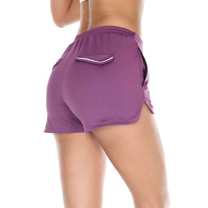 Reflective Mini Athletic Shorts Sports Shorts Loom Rack S PURPLE