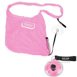 Retractable Storage Bag Travel Organizers Loom Rack Pink