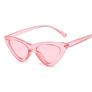 Retro Cat Eye Pointy Sunglasses Sunglasses Loom Rack Pink Frame/Pink Lens
