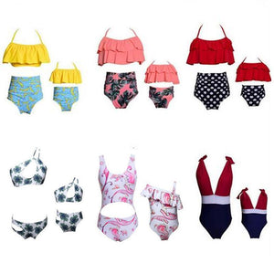 Retro Mommy and Me Matching Swimsuits - Assorted Styles Swimsuits 2019 Loom Rack