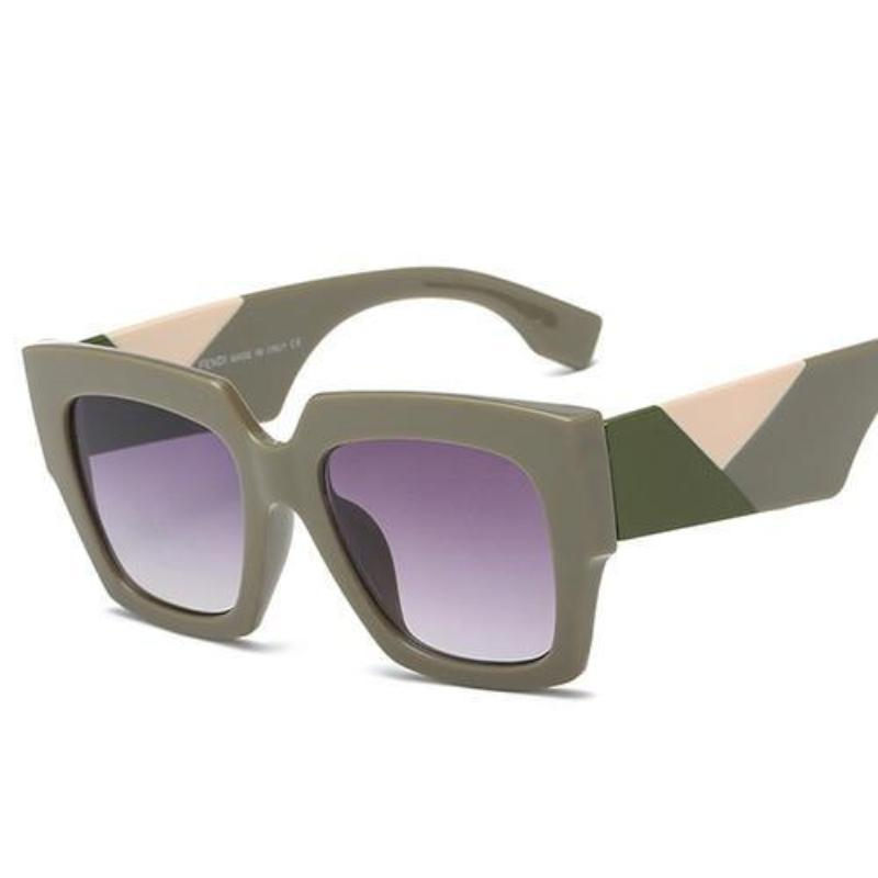 Retro Oversized Bold Frame Sunglasses Sunglasses Loom Rack Gray