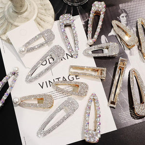 Rhinestone Hair Clip Barrettes HairClips Loom Rack