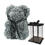 Rose Teddy Bear Home Accessories Loom Rack Grey with Box (10 inc/25 cm)