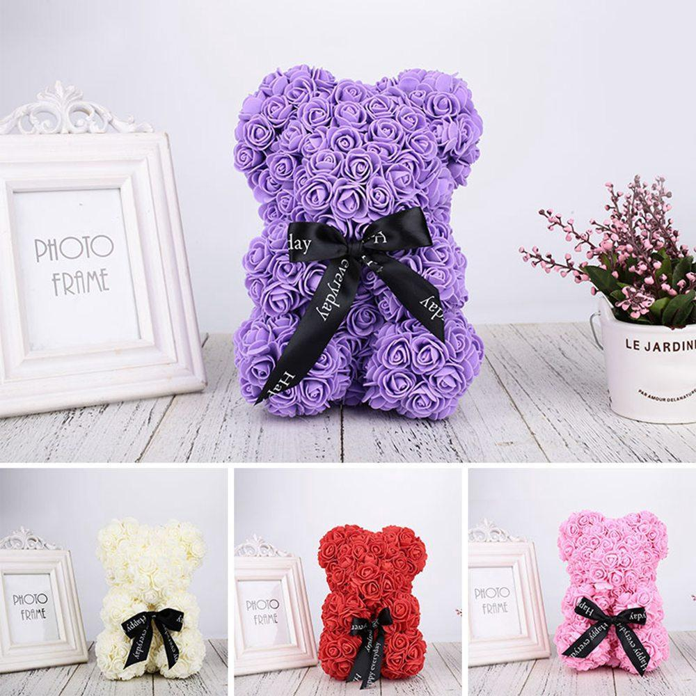 Rose Teddy Bear Home Accessories Red with Box (10 inc/25 cm)